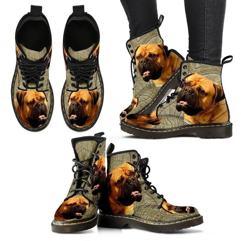 Bullmastiff Print Boots For Women-Express Shipping-Paww-Printz-Merchandise