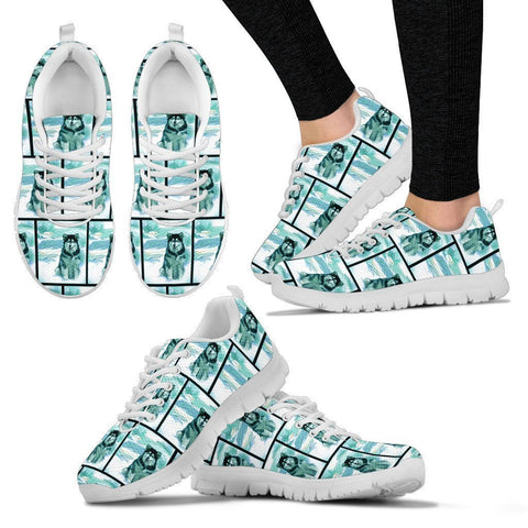 Alaskan Malamute Pattern Print Sneakers For Women- Express Shipping