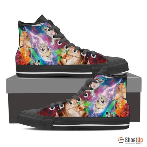 Cat-Women's Canvas Shoes-3D Print-Free Shipping