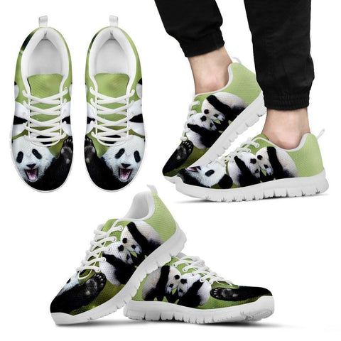 Lovely Panda Printed Running Shoes For Men-Free Shipping Limited Edition