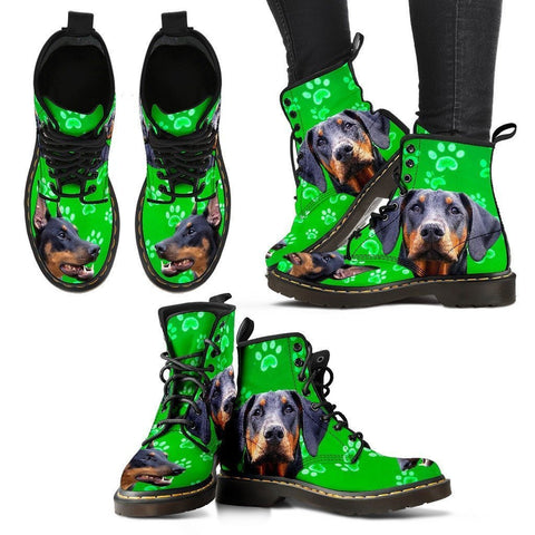 Doberman Pinscher Print Boots For Women-Express Shipping
