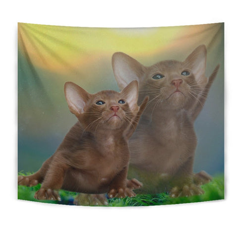 Cute Oriental Shorthair Cat Print Tapestry-Free Shipping