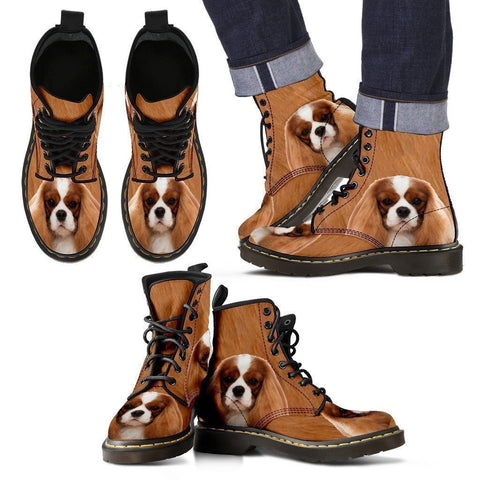 Cavalier King Charles Spaniel Print Boots For Men-Express Shipping-Paww-Printz-Merchandise