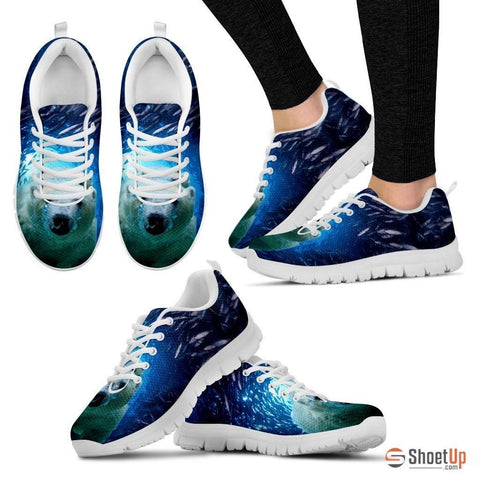 Polar Bear Print Running Shoe (Men And Women)- Free Shipping