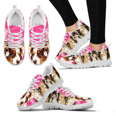 Australian Shepherd Print Sneakers For Women- Free Shipping