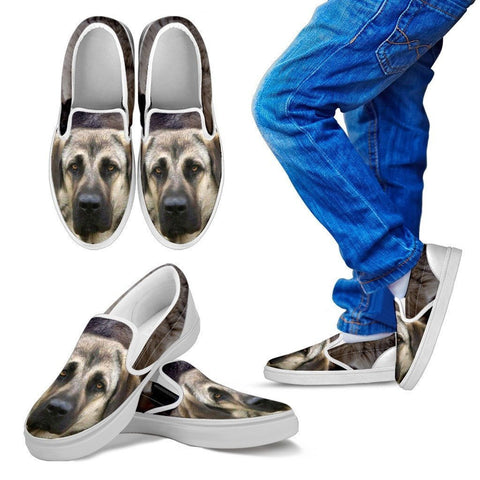 Anatolian Shepherd Print Slip Ons For Kids- Express Shipping
