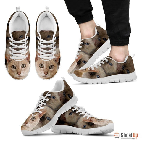 Tonkinese Cat Print Running Shoes For Men-Free Shipping