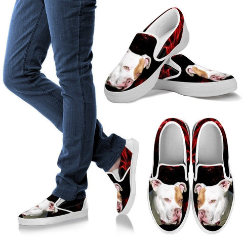 Pit Bull Terrier Print Slip Ons For Womens- Express Shipping