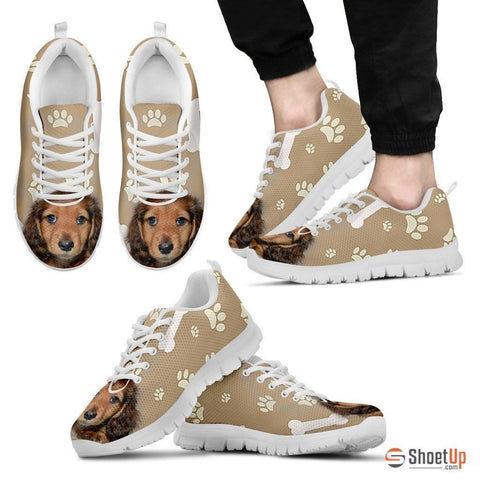 Dachshund Dog-Men's Running Shoes-Free Shipping