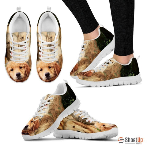Golden Retriever Print Running Shoe Women- Free Shipping