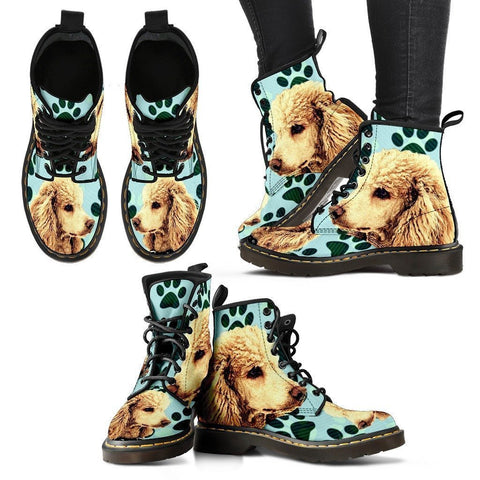 Poodle Print Boots For Women-Express Shipping