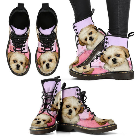 Shih Tzu Print Boots For Women-Express Shipping