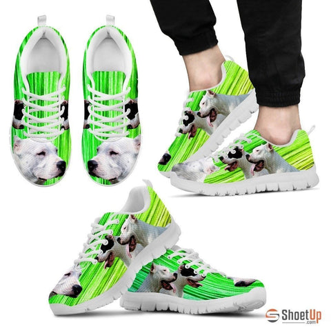 Dogo Argentino Print (Black/White) Running Shoes For Men-Free Shipping Limited Edition