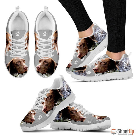 BRAQUE FRANCAIS PYRENEAN Printed (Black/White) Running Shoes For Women-Free Shipping