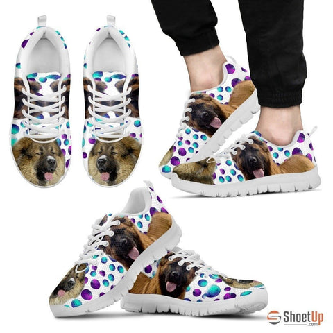 Caucasian Shepherd Dog (White/Black) Running Shoes For Men-Free Shipping