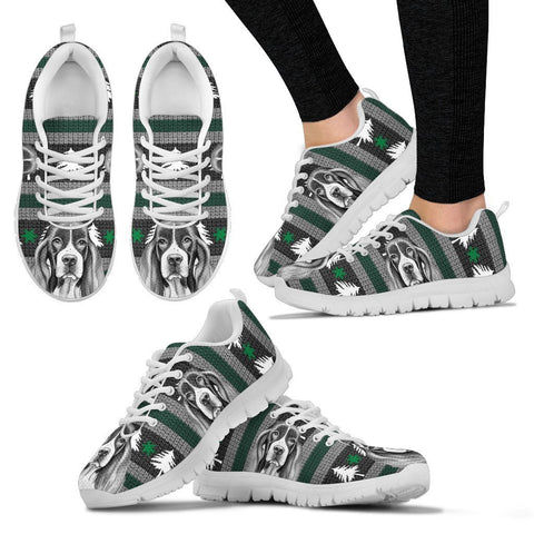 English Springer Spaniel Christmas Print Running Shoes For Women-Free Shipping