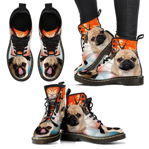 Pug Print Boots For Women-Express Shipping