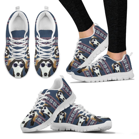 Saluki Christmas Print Running Shoes For Women-Free Shipping