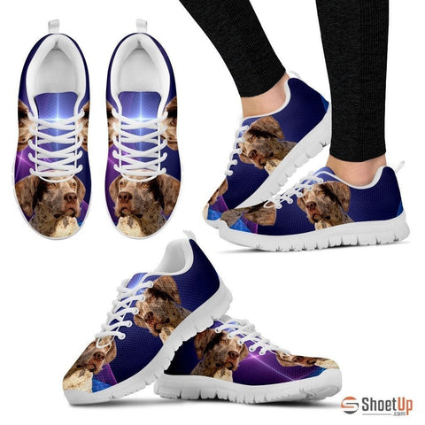 Braque du Bourbonnais Dog (White/Black) Running Shoes For Women-Free Shipping