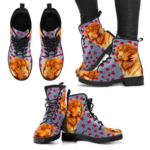 Valentine's Day Special-Nova Scotia Duck Tolling Retriever Print Boots For Women-Free Shipping