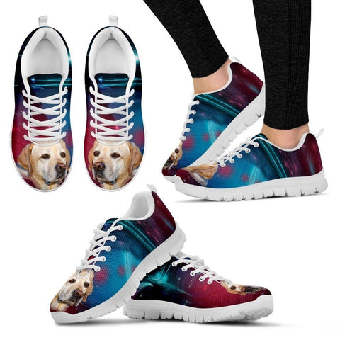 Labrador Dog Print Running Shoe For Women- Free Shipping