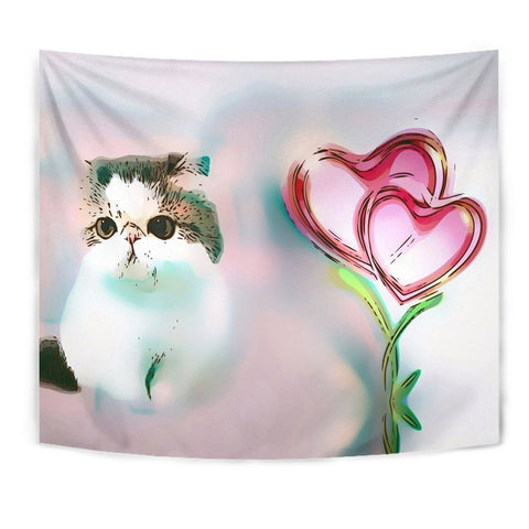 Exotic Shorthair Cat Print Tapestry-Free Shipping