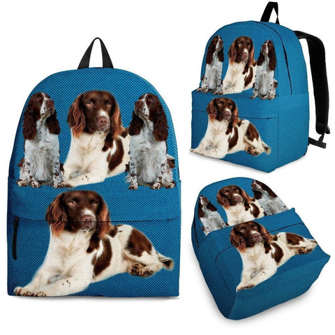 English Springer Spaniel Dog Print Backpack-Express Shipping