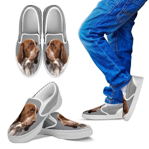 Bracco Italiano Dog Print Slip Ons For Kids-Express Shipping