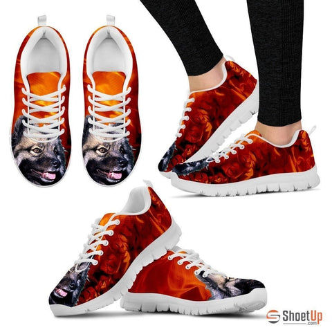 Keeshond-Dog Running Shoes For Women-Free Shipping