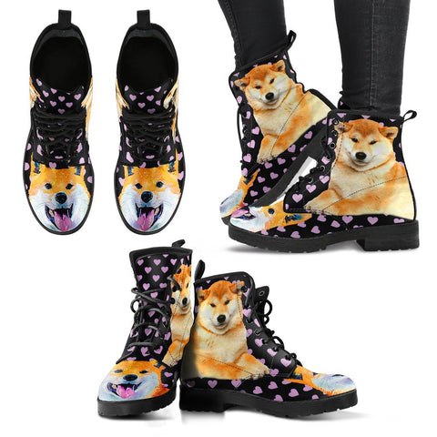 Valentine's Day Special-Shiba Inu Dog Print Boots For Women-Free Shipping