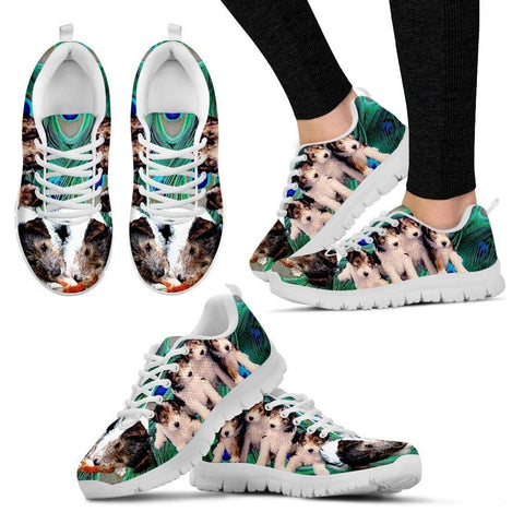 Wire Fox Terrier-Dog Running Shoes For Women-Free Shipping
