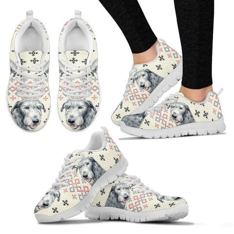 Irish Wolfhound Dog Print Christmas Running Shoes For Women-Free Shipping