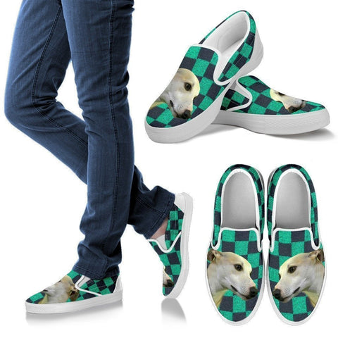 Whippet Dog Print-Slip Ons For Women-Express Shipping-Paww-Printz-Merchandise