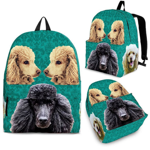 Poodle Dog Print Backpack-Express Shipping
