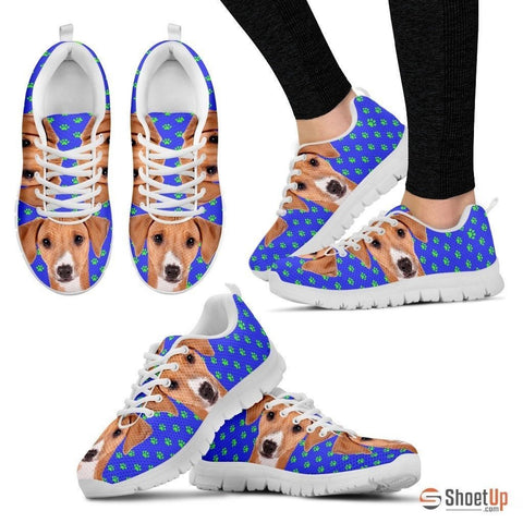 Azawakh Dog (White/Black) Running Shoes For Women-Free Shipping