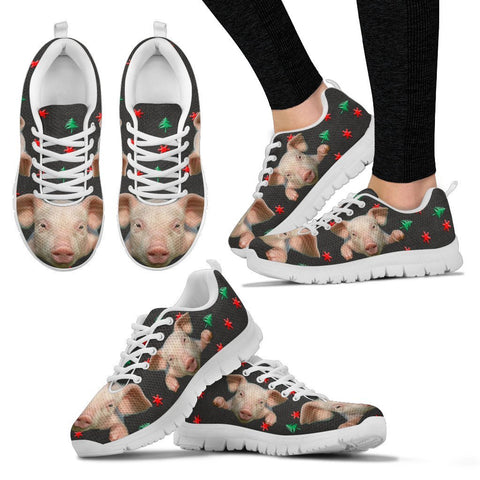 Miniature Pig3 Print Christmas Running Shoes For Women-Free Shipping