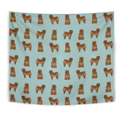 Cute Chow Chow Dog Pattern Print Tapestry-Free Shipping