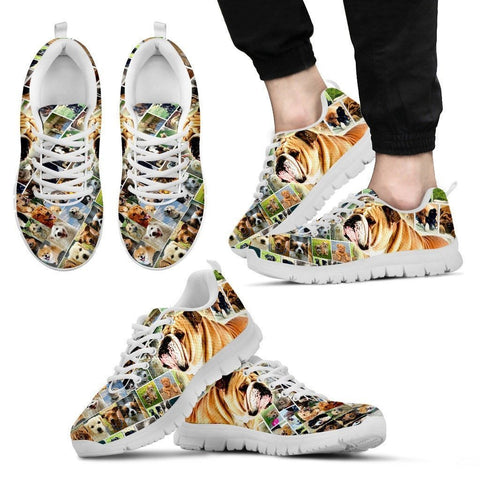 Lovely Bulldog Print-Running Shoes For Men-Express Shipping