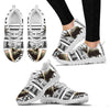 Large Black Pig Print Christmas Running Shoes For Women- Free Shipping