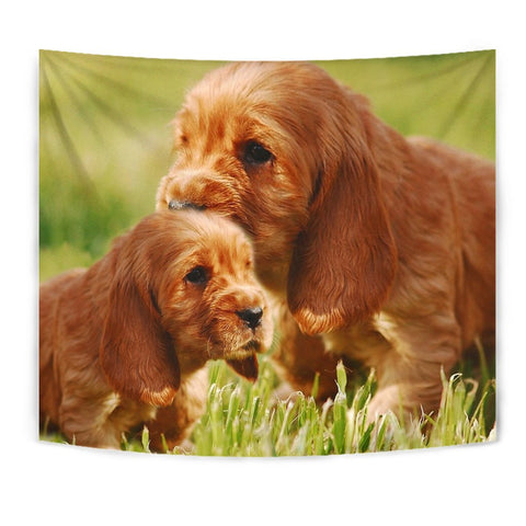 Cute Cocker Spaniel Puppy Print Tapestry-Free Shipping
