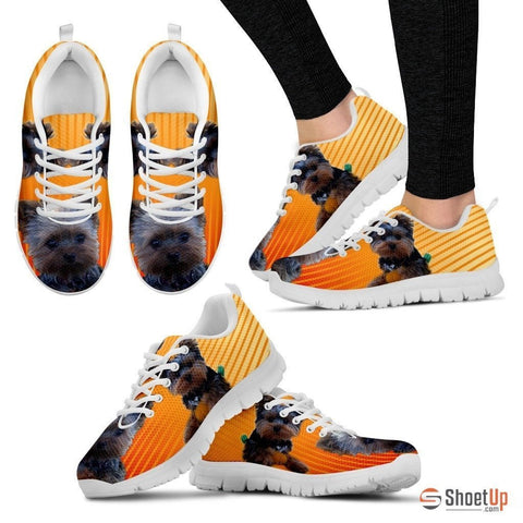 Blue Eyes Yorkshire Dog Running Shoes For Women-Free Shipping