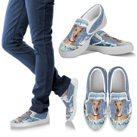 Italian Greyhound Dog Print Slip Ons For Women-Express Shipping