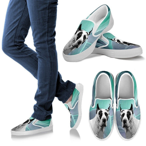 Great Dane Dog Print Slip Ons For Women-Express Shipping