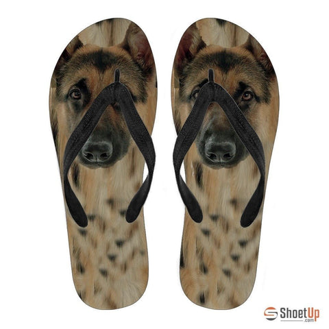 German Shepherd Flip Flops For Men- Free Shipping