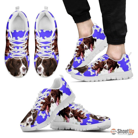 Drentsche Patrijshond Dog Print (Black/White) Running Shoes For Men-Free Shipping Limited Edition