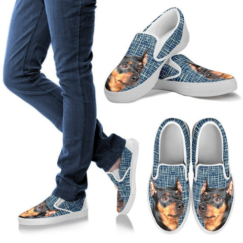 German Pinscher Dog Print Slip Ons For Women-Express Shipping