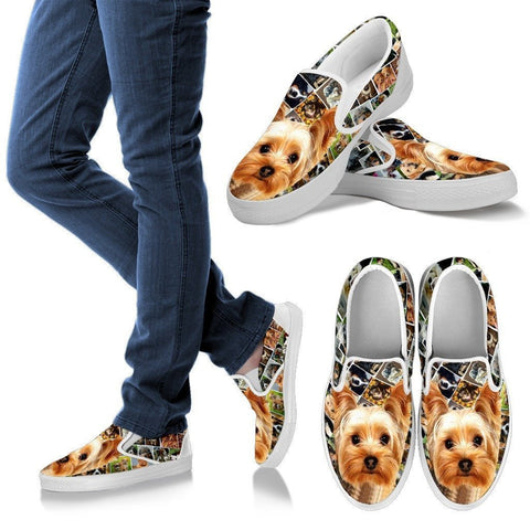 Amazing Yorkshire Terrier Print Slip Ons For Women-Express Shipping