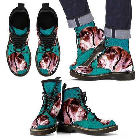 Pointer (German Shorthaired) Print Boots For Men-Limited Edition-Express Shipping