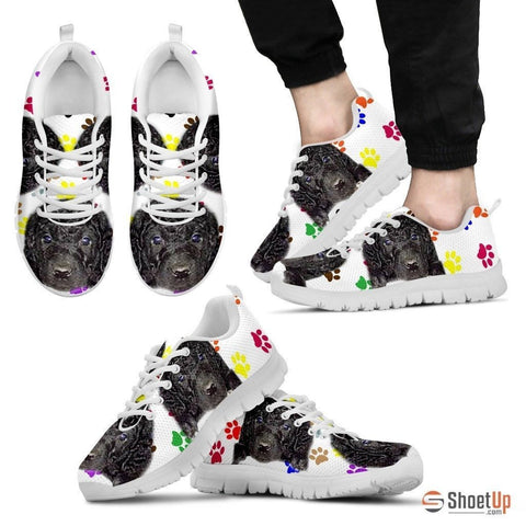 Curly Coated Retriever Dog (White/Black) Running Shoes For Men-Free Shipping