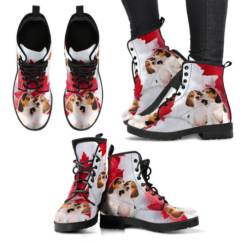 Valentine's Day Special Beagle On Red Print Boots For Women-Free Shipping